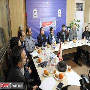 حضور هیئت رییسه شورای روابط عمومی های استان در دفتر روزنامه سپهرغرب